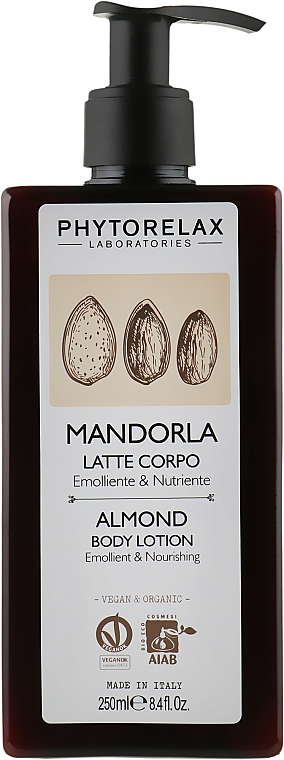 Увлажняющий лосьон для тела - Phytorelax Laboratories Almond Body Lotion