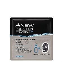 Духи, Парфюмерия, косметика Тканевая маска для лица - Avon Anew Pollution Protect+ Fresh Black Sheet Mask