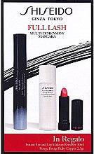 Духи, Парфюмерия, косметика Набор - Shiseido Full Lash Multi-Dimension Mascara (mascara/8ml + lipstick/2,5g + remover/30ml)