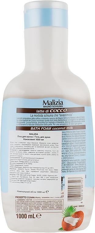 "Пена для ванны ""Кокос"" - Malizia Bath Foam Coconut — фото N2"