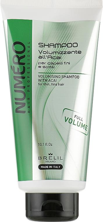 Шампунь для придания объема с экстрактом асаи - Brelil Numero Volumising Shampoo