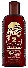 Духи, Парфюмерия, косметика Масло для тела с эффектом бронзового загара - Malibu Bronzing Tanning Oil SPF 2