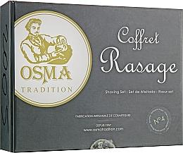Духи, Парфюмерия, косметика Набор для бритья - Osma Tradition No.4 (Liquid/wash/50ml + oil before shaving/50ml + ash/balm/50ml+ towel)