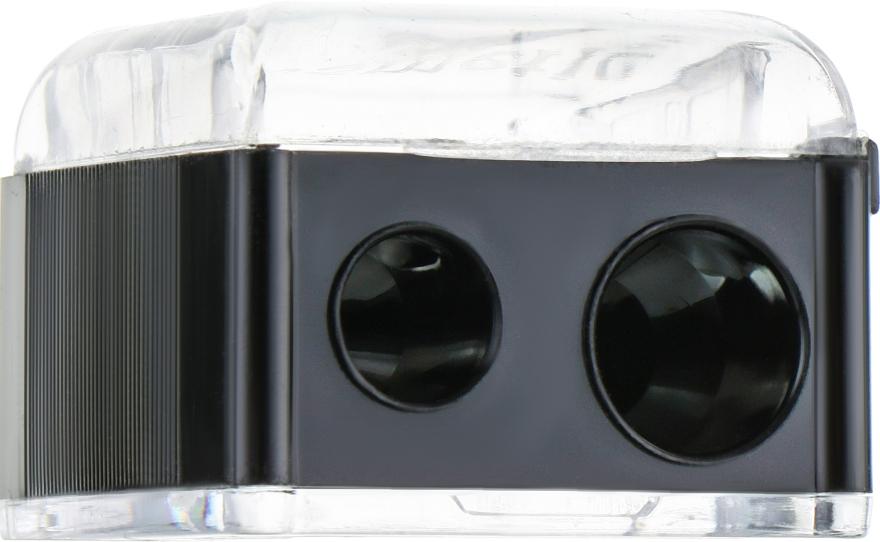 Точилка двойная для карандашей, Т0003, черная - Rapira