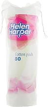 Духи, Парфюмерия, косметика Ватные диски с тиснением Cotton Pads, 80 шт - Helen Harper