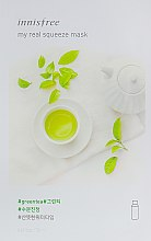Духи, Парфюмерия, косметика Тканевая маска - Innisfree My Real Squeeze Green Tea Mask