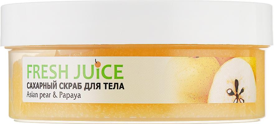 "Сахарный скраб для тела ""Азиатская груша и папайя"" - Fresh Juice Asian Pear & Papaya"