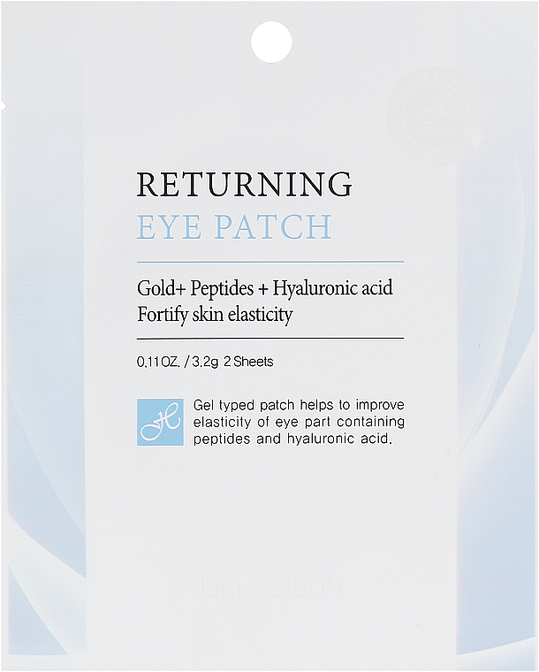 Гидрогелевые патчи с пептидами для зоны вокруг глаз - Dr.Hedison Premium Skin Care Returning Eye Patch