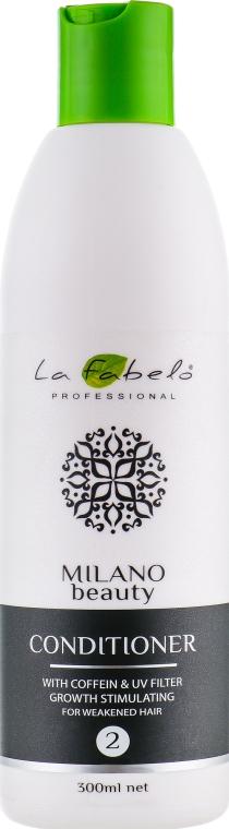 Кондиционер активатор роста волос с кофеином и УФ-фильтром - La Fabelo Professional Milano Beauty Conditioner With Coffein&UV Filter