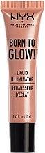 Духи, Парфюмерия, косметика Жидкий хайлайтер - NYX Professional Makeup Born To Glow Liquid Illuminator (мини)