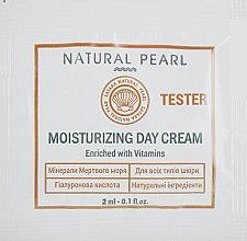 Духи, Парфюмерия, косметика Увлажняющий дневной крем для всех типов кожи - Satara Natural Pearl Moisturizing Day Cream (пробник)