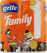 "Духи, Парфюмерия, косметика Полотенца бумажные ""Family Mix"", 2 слоя, 83 листа, 2 рулона - Grite"