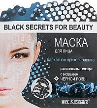 """Духи, Парфюмерия, косметика Маска для лица """"Бархатное прикосновение и разглаживание морщин"""" с экстрактом черной розы - BelKosmex Black Secrets For Beauty Black Rose Mask"""
