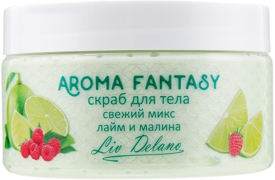 "Скраб для тела ""Лайм и малина"" - Liv Delano Aroma Fantasy Bath Gel"