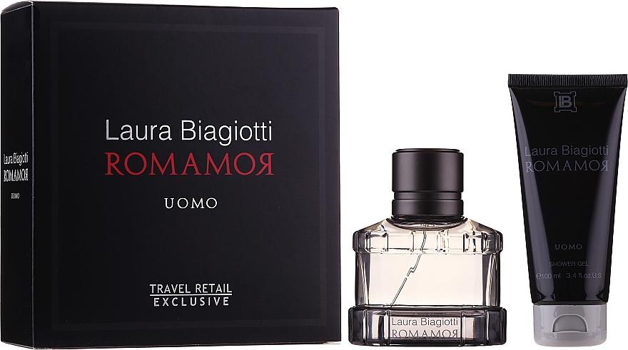 Laura Biagiotti Romamor Uomo - Набор (edt/40ml + sh/gel/100ml)