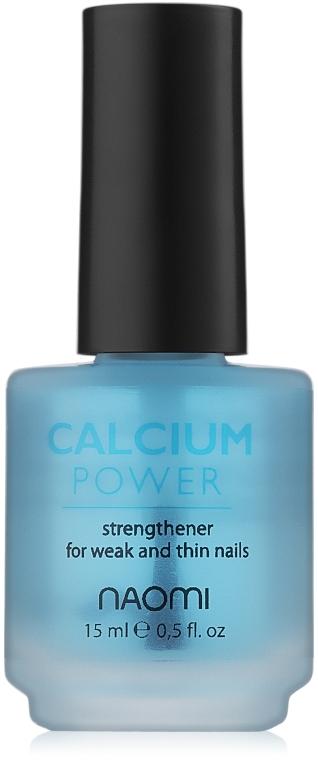 Укрепитель с кальциием для слабых и ломких ногтей - Naomi Calcium Power