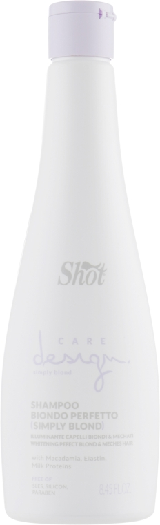 """Шампунь для волос """"Превосходный блонд"""" - Shot Care Design Simply Blond Shampoo"""