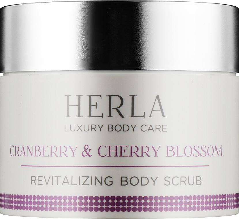 Восстанавливающий скраб для тела - Herla Luxury Body Care Cranberry & Cherry Blossom Revitalizing Body Scrub