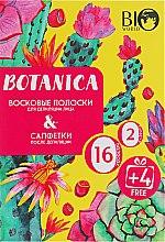 Духи, Парфюмерия, косметика Набор для депиляции лица - Bio World Botanica (полоски/16шт+4шт + саше)