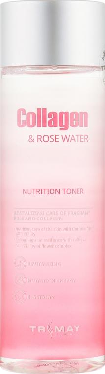 Коллагеновый тонер для лица, шеи и декольте - Trimay Collagen Rose Water Nutrition Tone