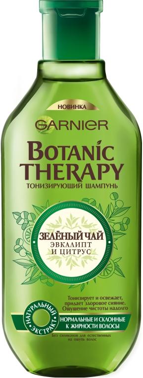 """Тонизирующий шампунь """"Зеленый чай, эвкалипт и цитрус"""" - Garnier Botanic Therapy"""