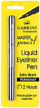 Духи, Парфюмерия, косметика Подводка-фломастер для глаз водостойкая - Gabrini Liquid Eyeliner Pen