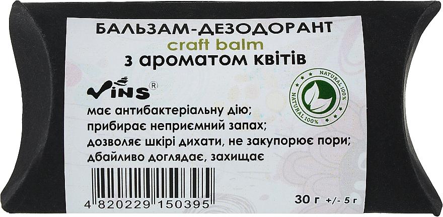 Бальзам-дезодорант для тела с ароматом цветов - Vins