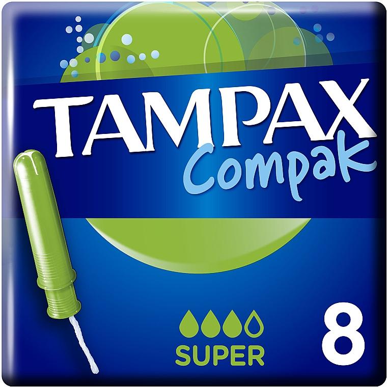 Тампоны с аппликатором, 8шт - Tampax Compak Super Single