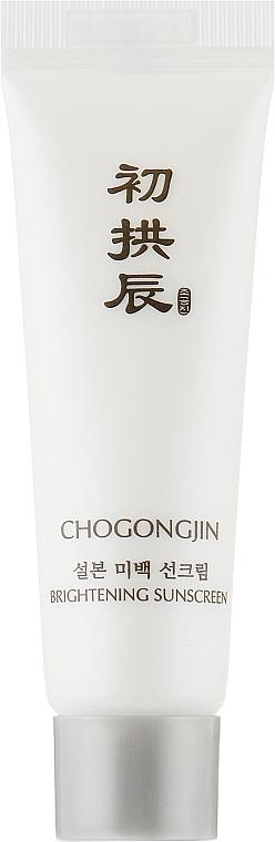 Осветляющий солнцезащитный крем для лица - Missha Chogongjin Sulbon Brightening Sunscreen SPF50+ (мини)