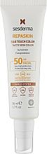 Духи, Парфюмерия, косметика Солнцезащитное средство для лица с тонирующим эффектом - SesDerma Laboratories Repaskin Silk Touch Color SPF 50