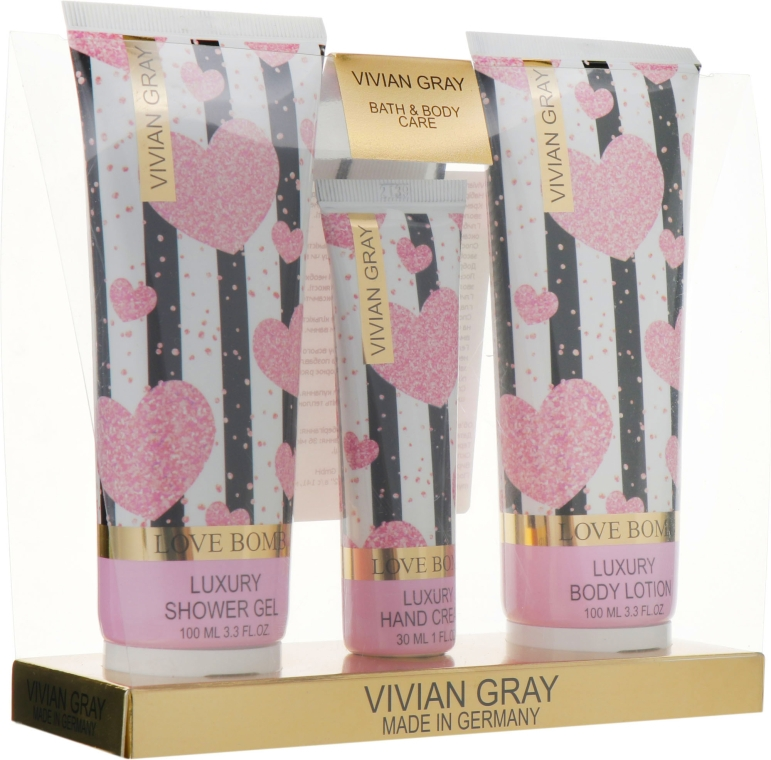 Набор - Vivian Gray Love Bomb (h/cream/30ml + b/lot/100ml + sh/gel/100ml)