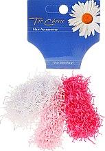 "Духи, Парфюмерия, косметика Резинки для волос ""Spaghetti"" 3 шт, розовые + белая - Top Choice"