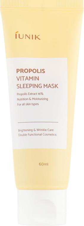 Восстанавливающая ночная маска с прополисом - iUNIK Propolis Vitamin Sleeping Mask