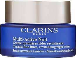 Парфумерія, косметика Нічний крем - Clarins Multi-Active Nuit Targets Fine Lines, Revitalizing Night Cream Normal to Combination Skin