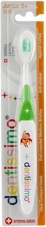 Зубная щетка для детей от 6 лет, салатовая - Dentissimo Junior