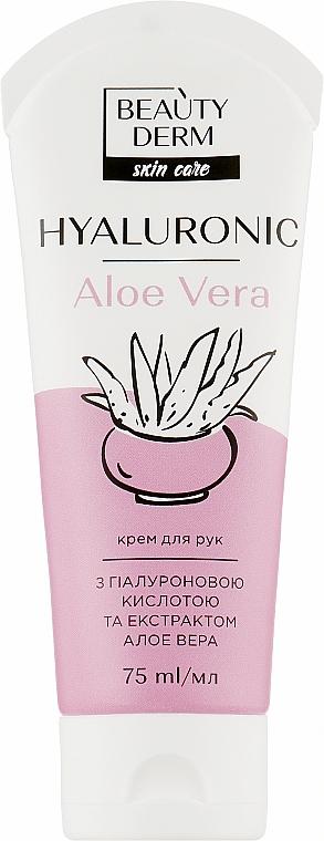 Крем для рук с гиалуроновой кислотой и экстрактом алоэ вера - Beauty Derm Skin Care Hyaluronic Aloe Vera