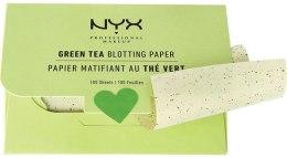 """Духи, Парфюмерия, косметика Салфетки для лица """"Green Tea"""" - NYX Professional Makeup Blotting Paper"""