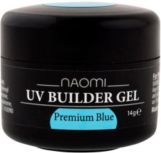 Духи, Парфюмерия, косметика Строительный гель - Naomi UV Builder Gel Premium Blue
