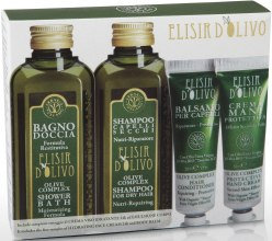 Духи, Парфюмерия, косметика Набор - Erbario Toscano Olive Complex Bath Gel, Shampoo, Conditioner, & Hand Cream Set (sh/gel/125ml + shm/125ml + cond/30ml + h/cr/30ml)