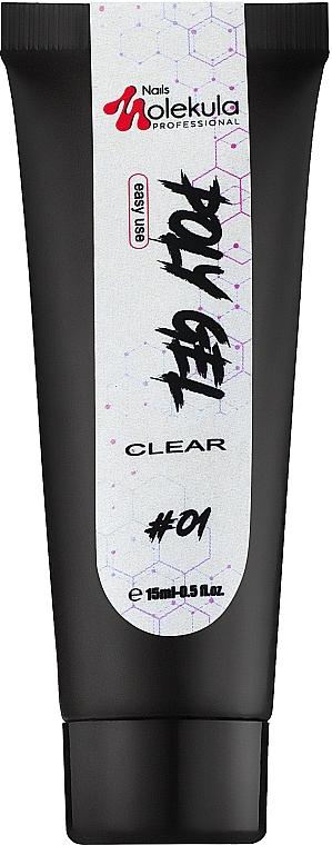 Полигель для ногтей - Nails Molekula Poly Gel 01 Clear