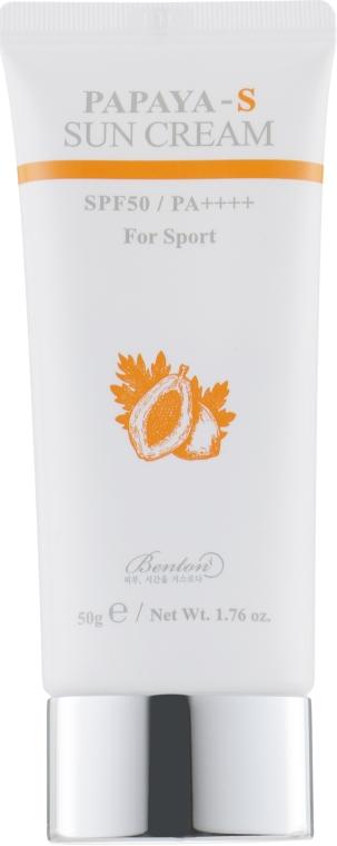 Сонцезахисний крем для активного способу життя - Benton Papaya-S Sun Cream SPF50+/PA++++ For Sport — фото N2