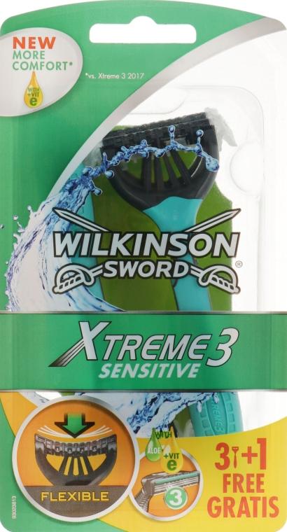 Одноразовые станки, 3 + 1 шт. - Wilkinson Sword Xtreme3 Sensitive