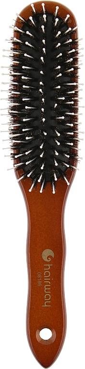 """Щетка для волос """"Дикобраз"""", черная щетина - Hairway"""