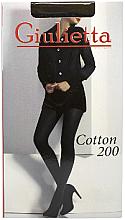 "Парфумерія, косметика Колготки для жінок ""Cotton"" 200 Den, nero - Giulietta"