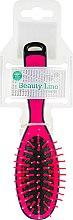 Духи, Парфюмерия, косметика Щетка прямоугольная, 413971, маленькая, малиновая - Beauty Line