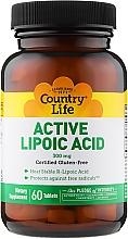 Духи, Парфюмерия, косметика Липоевая кислота, 300 мг - Country Life Active Lipoic Acid Time Release