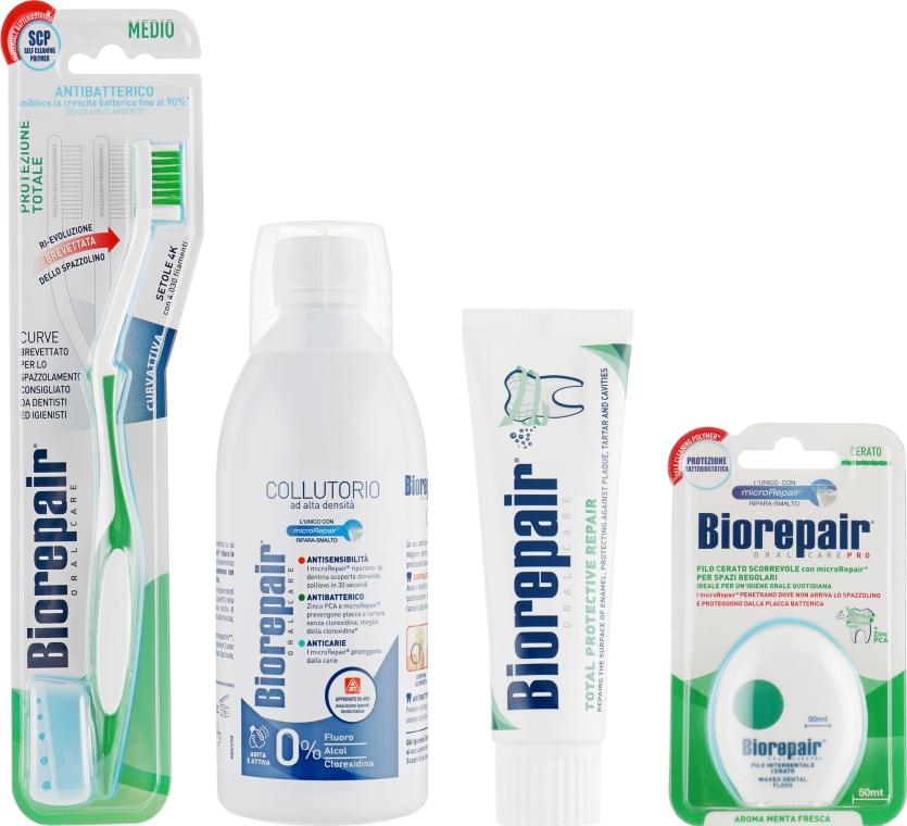 """Набор """"Совершенный уход"""" - Biorepair (t/paste/75ml + mouthwash/500ml + dental/floss + t/brush)"""