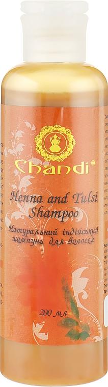 "Натуральный индийский шампунь ""Хна и Тулси"" - Chandi Henna and Tulsi Shampoo"