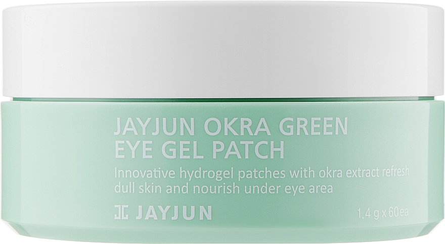 Укрепляющие гидрогелевые патчи с экстрактом плодов окры - Jayjun Okra Green Eye Gel Patch