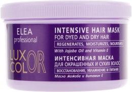 Духи, Парфюмерия, косметика Интенсивная маска для окрашенных и сухих волос - Elea Professional Luxor Color